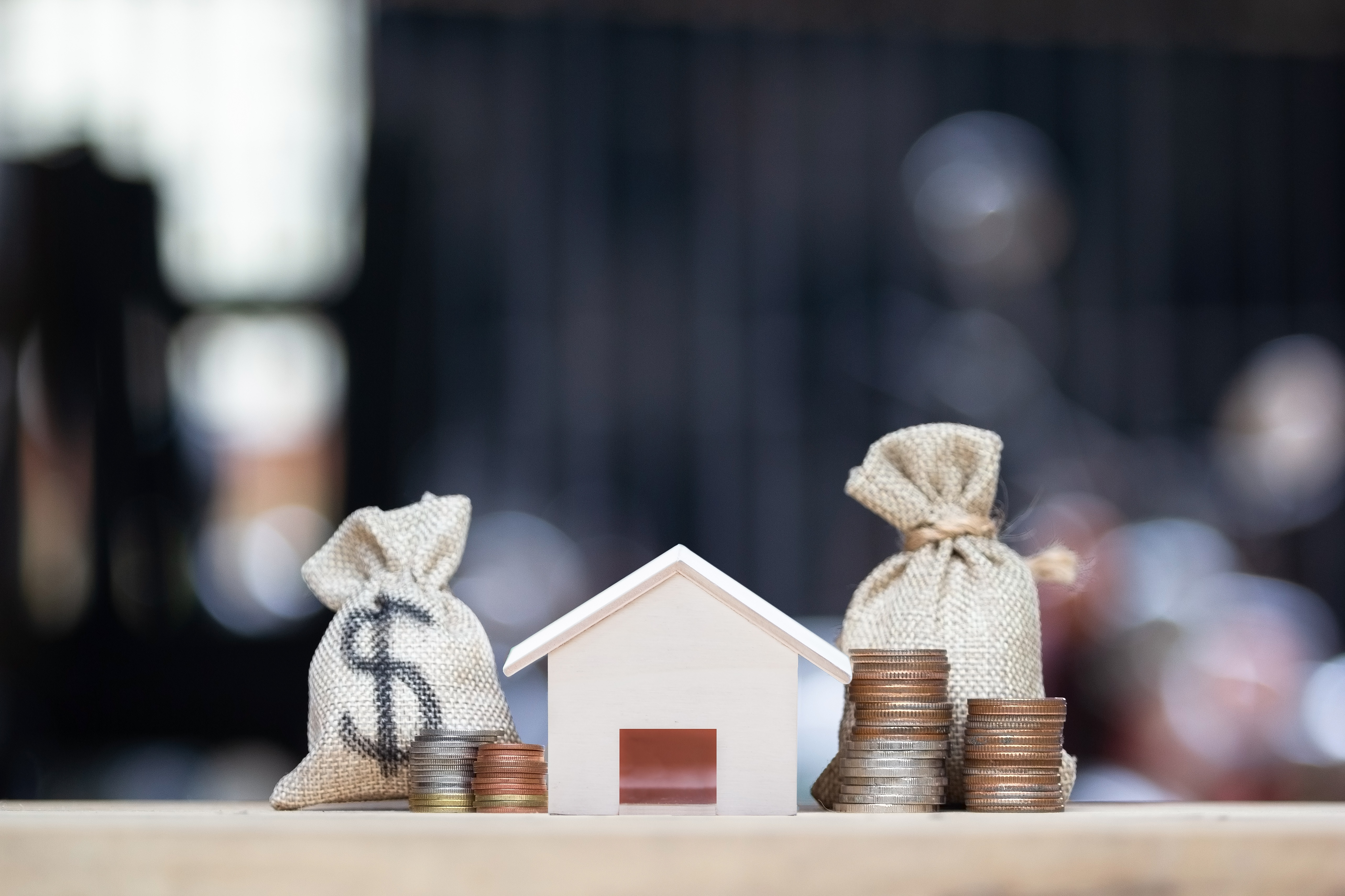 house with money representing grants